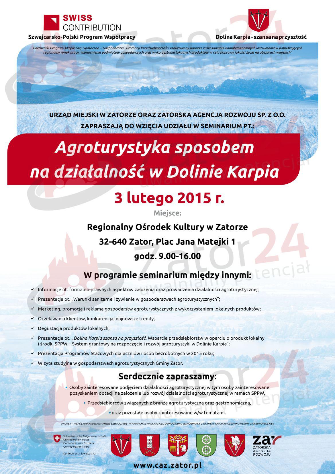 seminarium agroturystyka w dolinie karpia