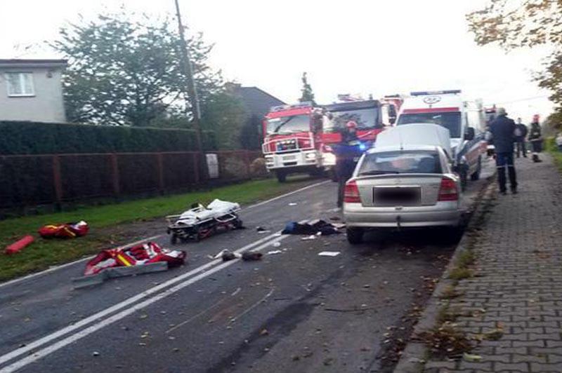 wypadek z motocyklistą gierałtowice 9 października