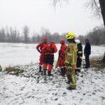 #GRODZISKO Mężczyzna uratowany spod powierzchni lodu.