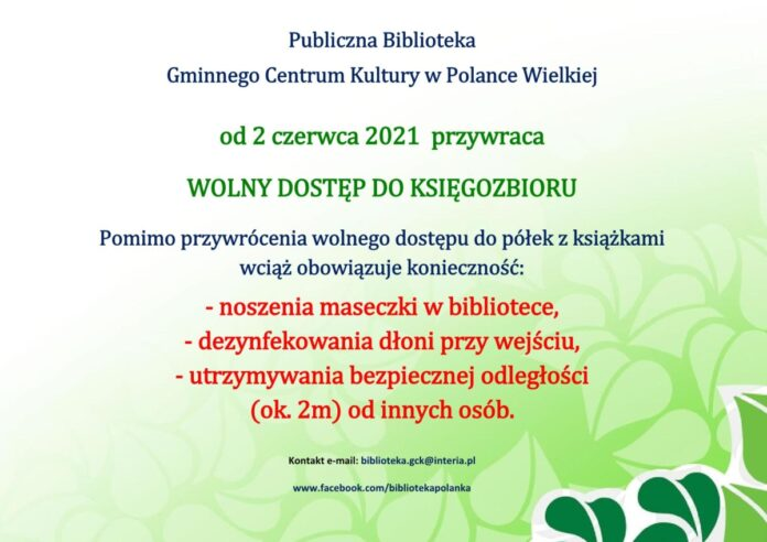 wolny-dostep-biblioteka - Polanka - Wielka