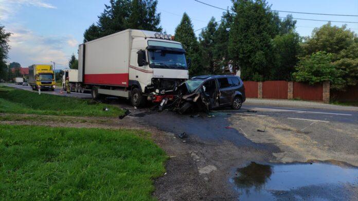 KPP Oświęcim. Graboszyce wypadek drogowy 10.08.2021